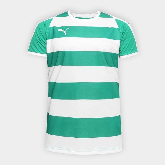 c906457653 Camisa Puma Liga Jersey Hooped Masculina - Verde e Branco