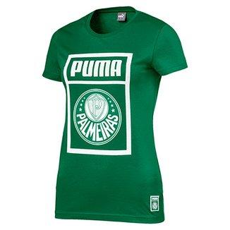 Camiseta Palmeiras Puma Graphic Feminina 727da607aa0dd