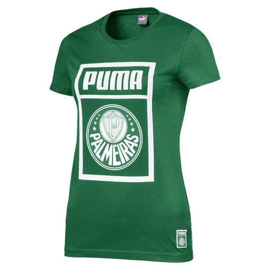Camiseta Palmeiras Puma Graphic Feminina - Verde e Branco - Compre ... 1a9a9716ec610