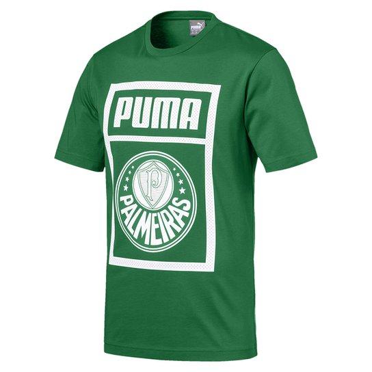 6a33904dc Camiseta Palmeiras Puma Graphic Masculina - Verde e Branco - Compre ...