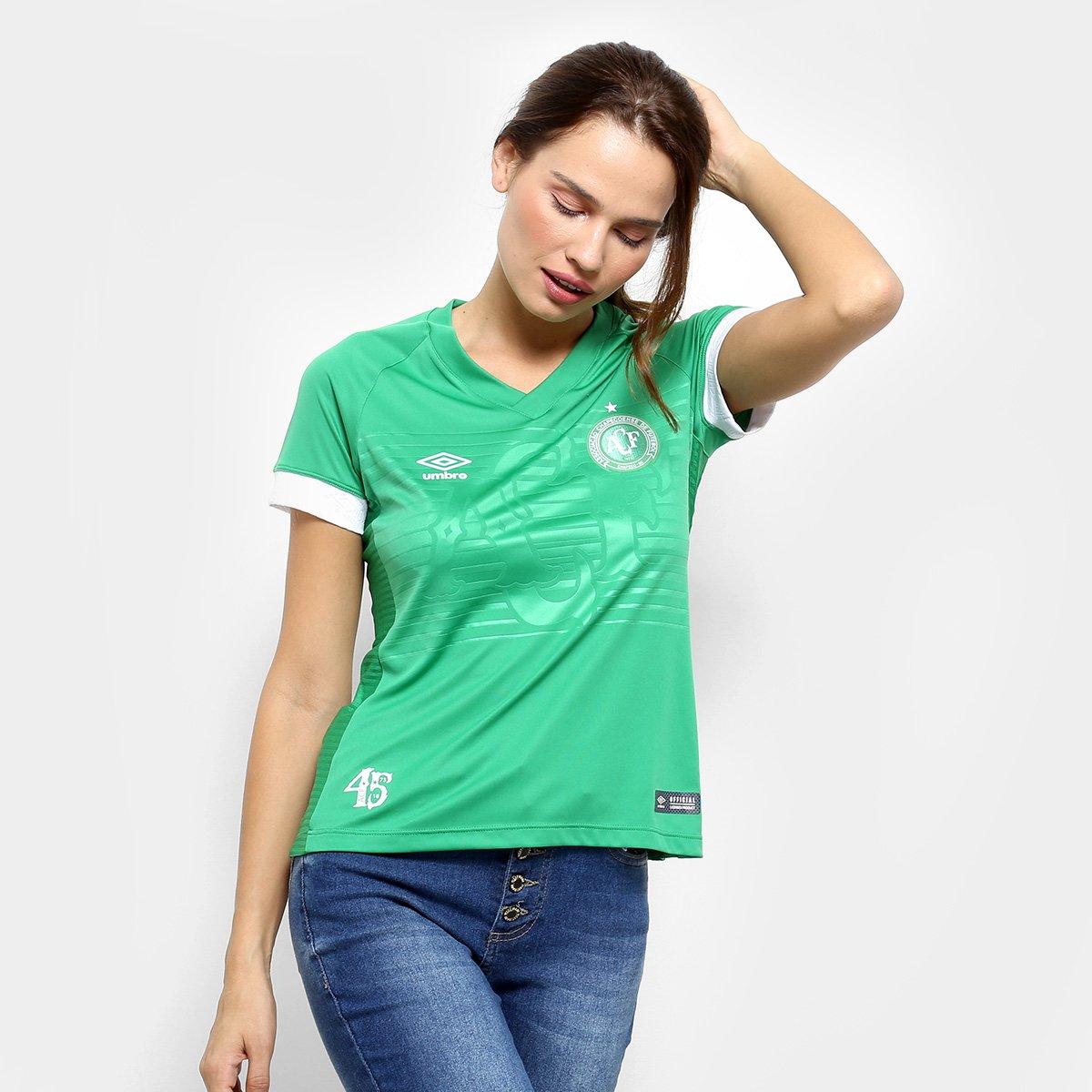 Camisa Chapecoense I 2018 s/n° Torcedor Umbro Feminina