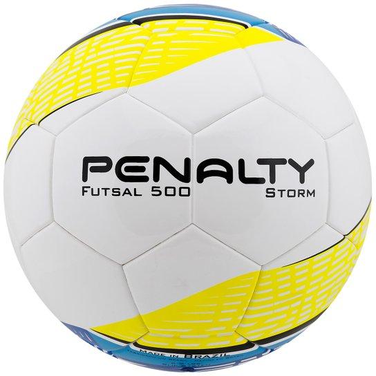 33017da3e6 Bola Penalty Storm Ultra Fusion 5 Futsal - Amarelo+Branco