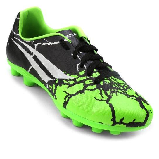 496b4d450 Chuteira Campo Infantil Penalty K Soccer RX 7 - Preto e Verde Limão ...