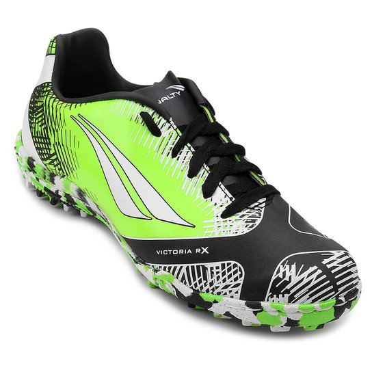 d3a1309f8 Chuteira Society Infantil Penalty Victoria K Soccer RX II 7 - Verde+Branco