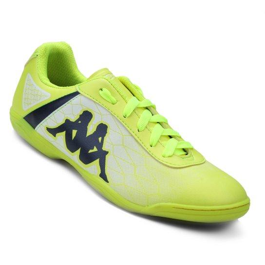 e5d1ce817 Chuteira Futsal Kappa Torpedo - Verde e Branco