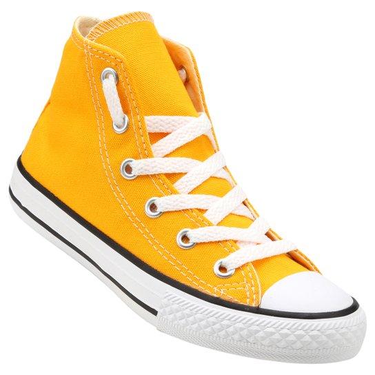 179a483cdbf Tênis Converse CT AS SEASONAL HI Infantil - Amarelo+Branco