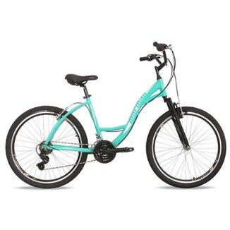 4d18749a5 Bicicleta Mtb Aro 26 Q18 Alumínio 21V Shimano Suspensão Sunset Way Mormaii