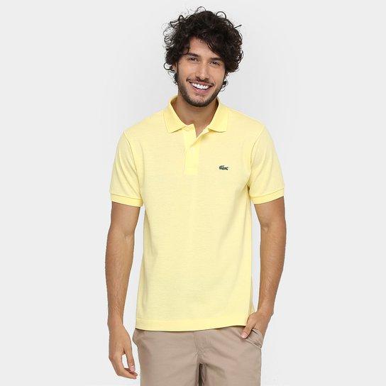 0672497dbcb Camisa Polo Lacoste Original Fit Masculina - Amarelo Claro - Compre ...