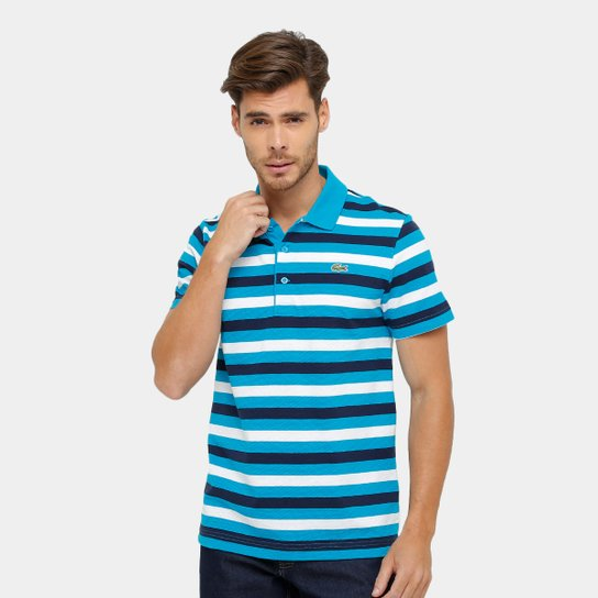 78197b56bc865 Camisa Polo Lacoste Listrada Masculina - Compre Agora