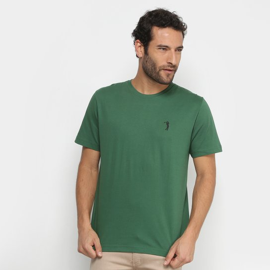 00b12a406e Camiseta Aleatory Lisa Masculina - Verde escuro - Compre Agora ...