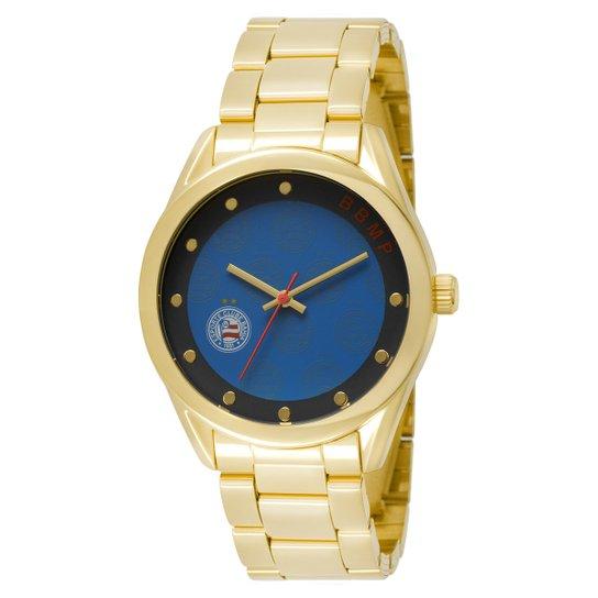4abf57d17aabb Relógio Bahia Technos Analógico 5 ATM Feminino - Dourado e Azul ...