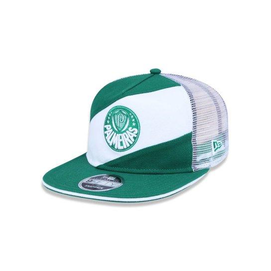 124b688536cc9 Boné 950 Original Fit Palmeiras Futebol Aba Reta Snapback New Era - Verde +Branco