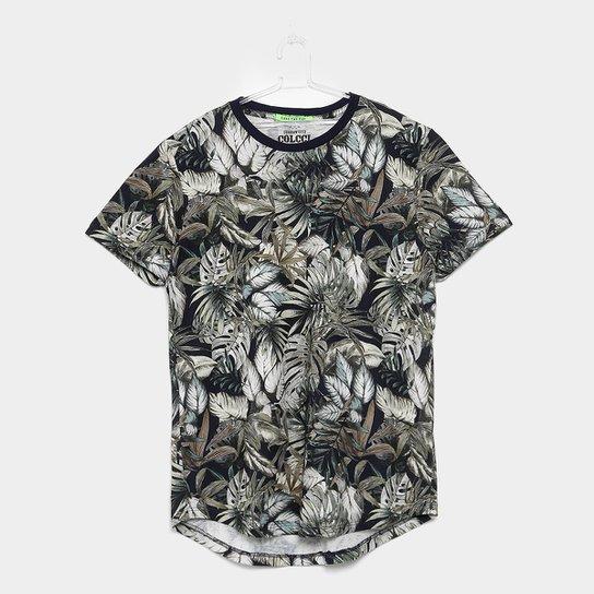 12de99c03 Camiseta Infantil Colcci Fun Estampa Folhagens Masculina - Verde+Branco