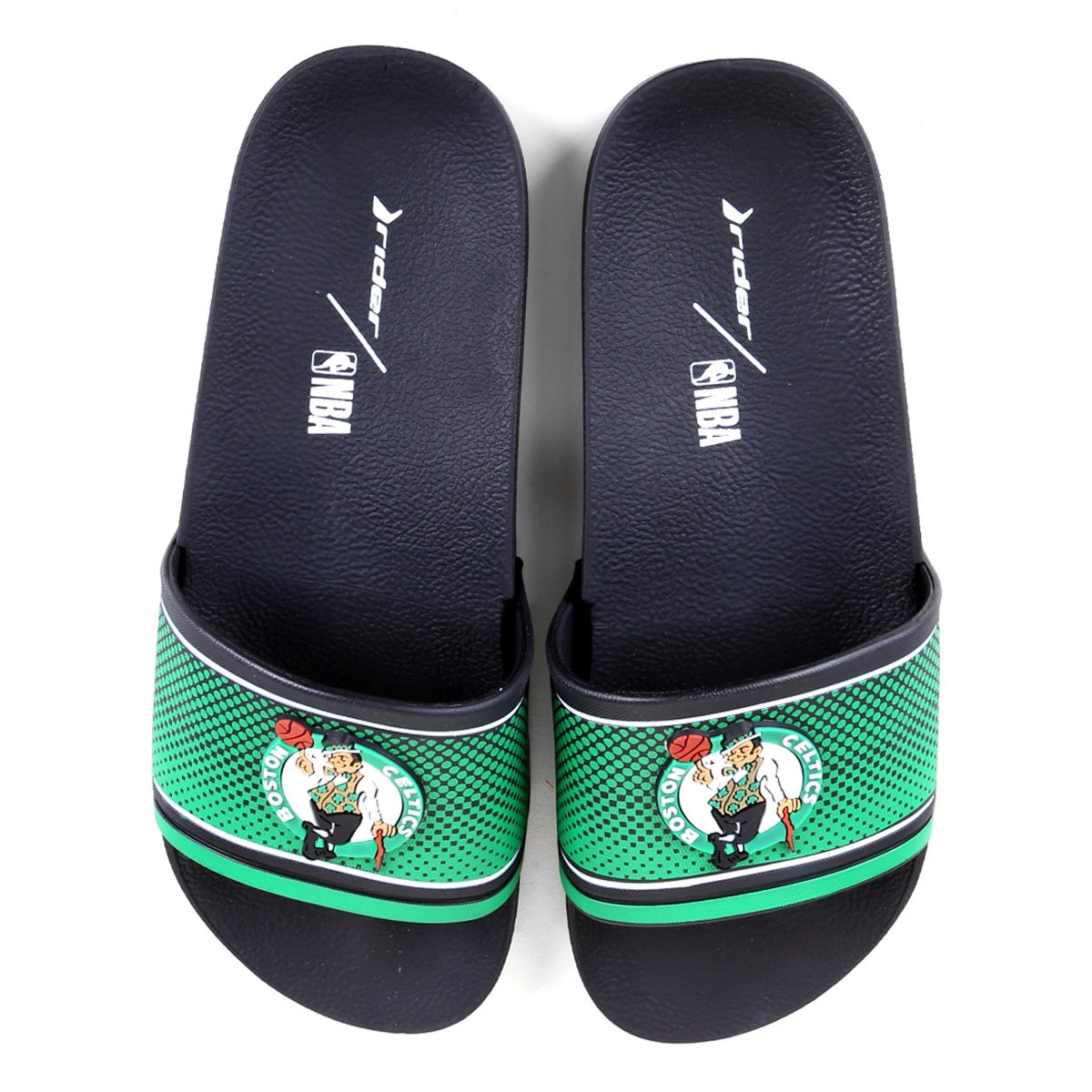 Chinelo Slide NBA Boston Celtics Rider Full 86 Masculino
