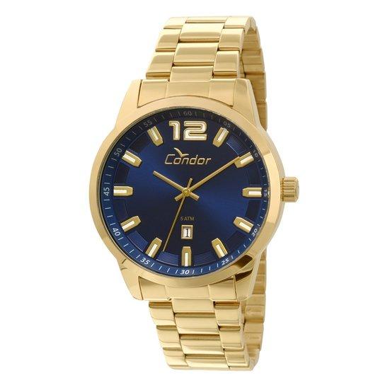 e6b5b352e92 Relógio Condor Casual Metal - Dourado e Azul - Compre Agora