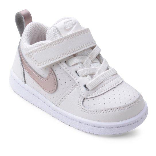 0ad70e4820a Tênis Nike Infantil Court Borough Low Feminino - Branco - Compre ...