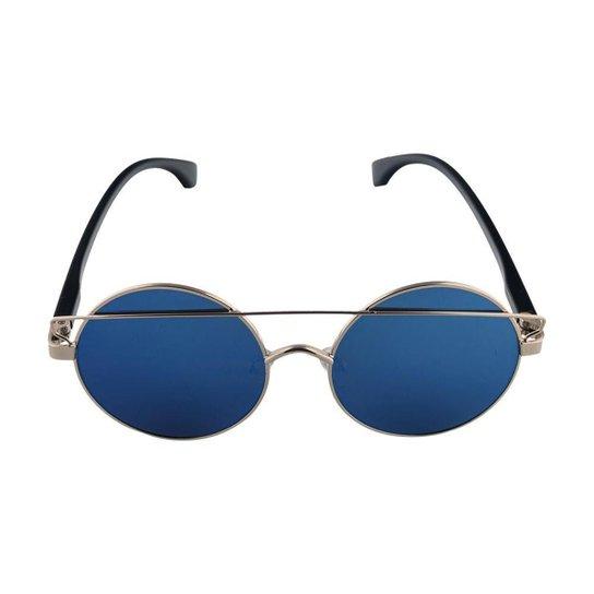 Óculos de Sol Khatto 61 Feminino - Dourado e Azul - Compre Agora ... 7ab2e6ceb0