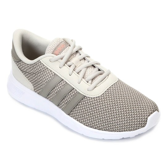 22827cf01 Tênis Adidas Lite Racer W Feminino - Branco e Marrom | Netshoes