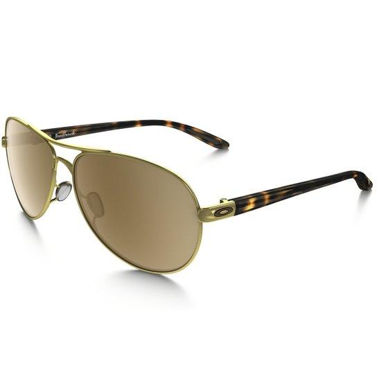 e67353dd66960 Óculos Oakley Feedback - Dourado+Marrom