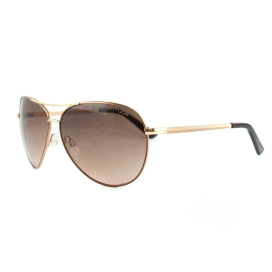 b6dcd2fbf Óculos Atitude De Sol - Dourado+Marrom