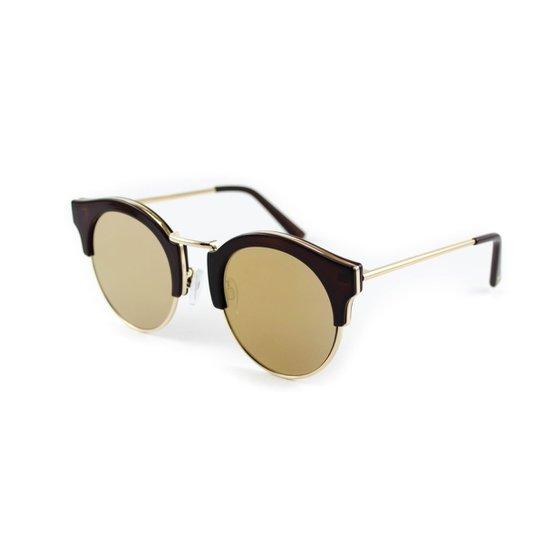 928ca571a946f Óculos de Sol Atitude - Dourado e Marrom - Compre Agora