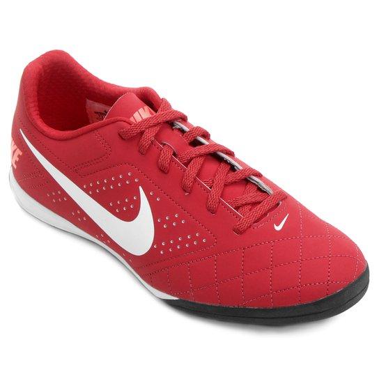Chuteira Futsal Nike Beco 2 Futsal - Vermelho e Branco - Compre ... abb46f29d1620