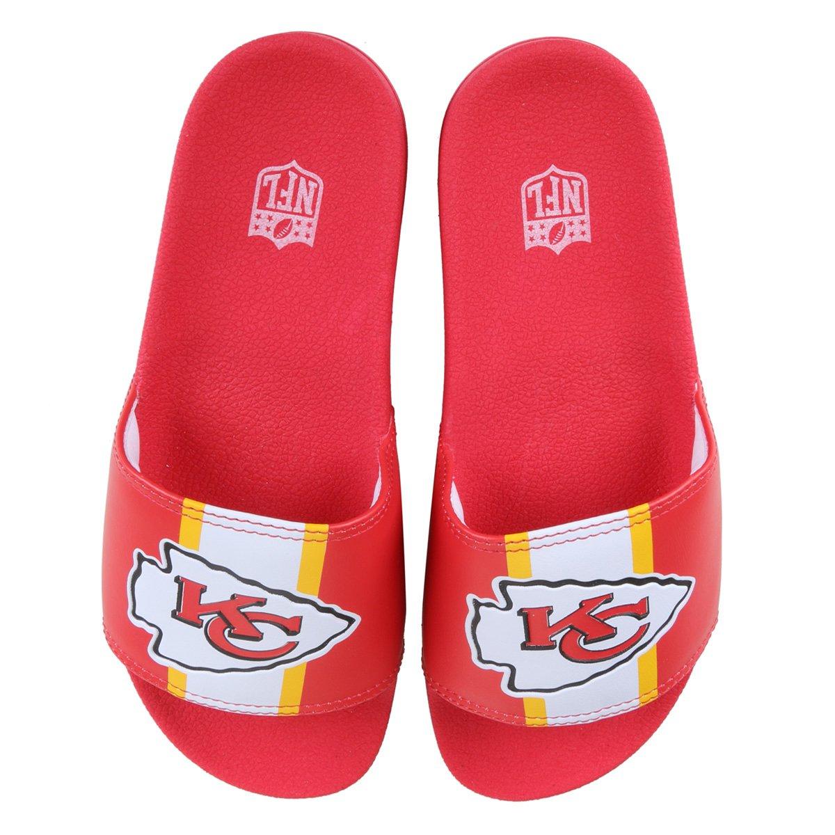 Chinelo NFL Kansas City Chiefs New Era Slide Logo Masculino
