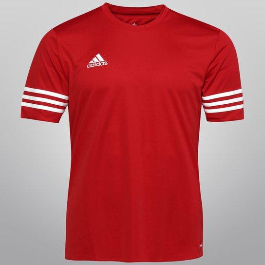 a193ffec35 Camisa Adidas Entrada 14 Masculina - Vermelho e Branco