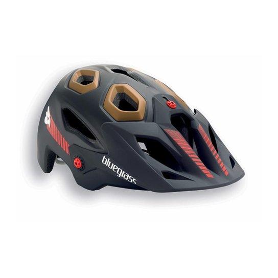 b0124fb7a Capacete MTB Mountain Bike BLUEGRASS Golden Eyes HES - Preto+Marrom