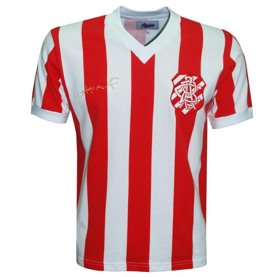 1b85421dd Camisa Liga Retrô Bangu 1960 (Ademir da Guia) - Vermelho e Branco ...