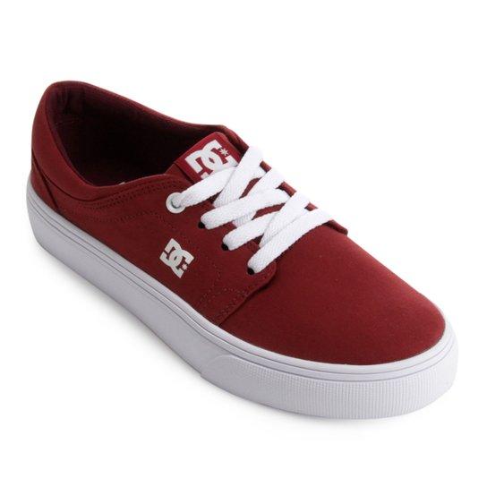 97e203777efb4 Tênis DC Shoes Trase Tx Feminino - Vermelho e Branco - Compre Agora ...