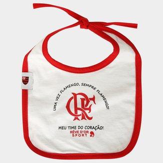Babador Flamengo Infantil Time do Coração com Cordão 204c4d5be0f1f
