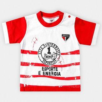 1df7aa6dd8 Camiseta São Paulo Bebê Esporte e Energia