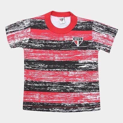 Camiseta Listras Craqueladas São Paulo Infantil