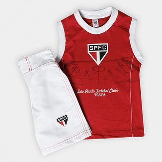 Conjunto São Paulo Infantil Bermuda e Regata 47be31c212d