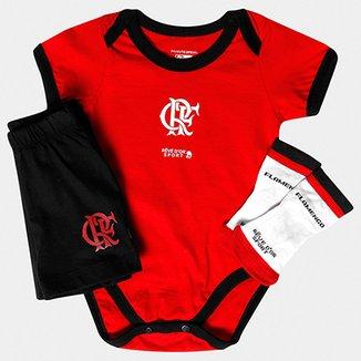 2f61a00ee4 Conjunto Bicolor e Meia Flamengo Bebê