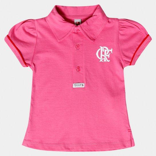 Camisa Polo Rosa Flamengo Infantil - Rosa e Branco - Compre Agora ... 6984642f79de2