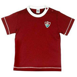 Camiseta Cores Clube Meia Malha Menino Fluminense Reve Dor - G fd14b5f125387