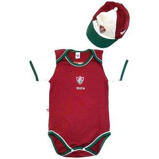 92c0e8861f Kit Body Bicolor E Boné Meia Malha Unissex Fluminense Reve Dor - 1 Ano