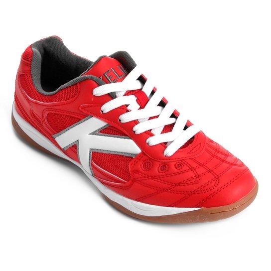 7eeb4f58af9 Chuteira Futsal Kelme Copa - Vermelho e Branco - Compre Agora