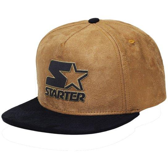 Boné Starter Aba Reta Snapback Suede Gold - Compre Agora  45d4008326b