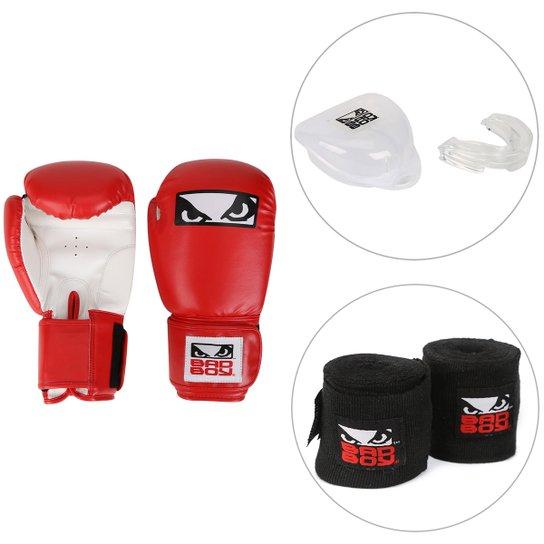 91cc3f771 Kit Luva de Boxe   Muay Thai Bad Boy 12 OZ + Bandagem Elástica Bad ...
