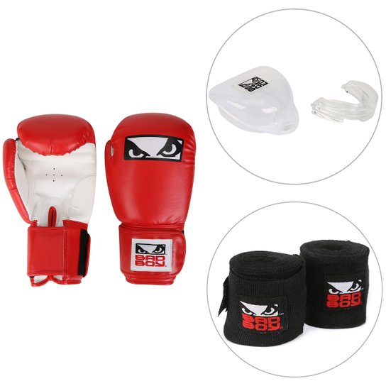 e2db9f722 Kit Luva de Boxe   Muay Thai Bad Boy 12 OZ + Bandagem Elástica Bad ...