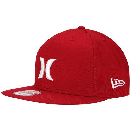 Boné Hurley Regional Japão - Vermelho+Branco 3314a03c380