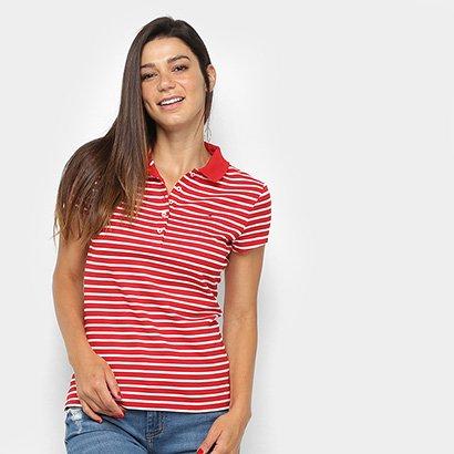 Camisa Polo Tommy Hilfiger Listrada Feminina