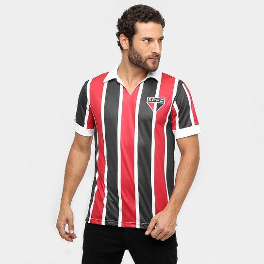 Camisa Polo São Paulo Réplica 1957 Masculina - Vermelho+Branco 1cd5f5e619b78