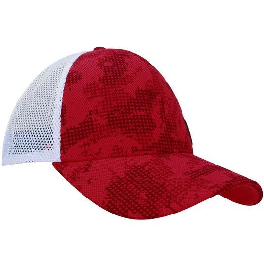 Boné Under Armour UA Pro Fit Masculino - Vermelho+Branco 5b40db8d7c1