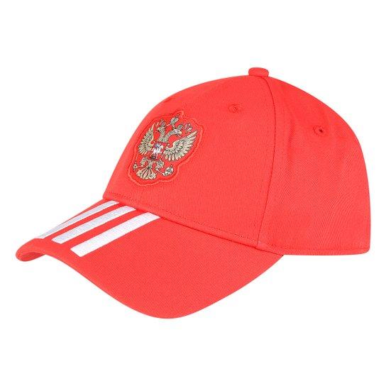 Boné Adidas Aba Curva Rússia 3S - Vermelho+Branco 864e1b6b8e2