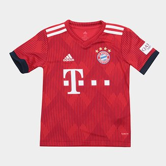 beab73a0d3 Camisa Bayern de Munique Infantil Home 2018 s n° - Torcedor Adidas