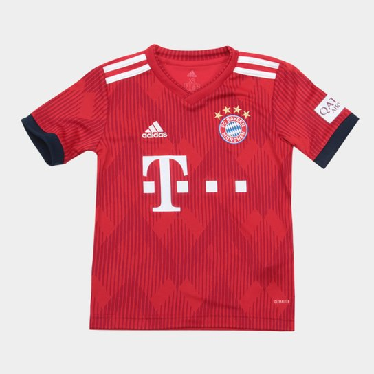 efa64c72f7 Camisa Bayern de Munique Infantil Home 2018 s/n° - Torcedor Adidas -  Vermelho